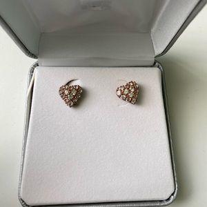JCP Diamond Heart earrings BNWT